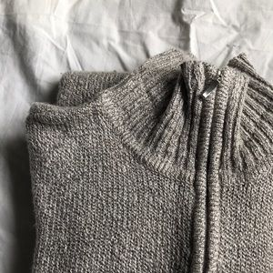 Other - Quarter zip thin grey sweater women's small